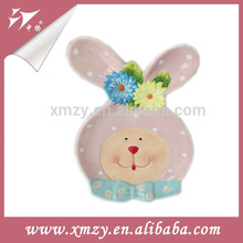 Pink Decoration Easter Rabbit Plate Wholesale Tableware