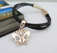 2014 Hot Womens Bangle Fashion Vintage Rhinestone skull and crossbones infinity braceletLeather Multilayer Bracelets/ Pulseras
