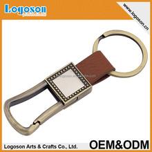 Promocional de alta - qualidade do Metal chaveiros de couro com personalizado carta