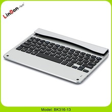 Best quality bottom price aluminum wireless keyboard for iPad Air, wireless flexible keyboard for ipad