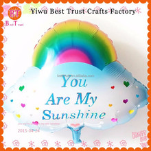 New Design inflatable Rainbow Balloons,foil Helium Balloon for decoration