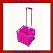 2 Wheels Shopping Plastic Go Carts Folding Carts Shopping Trolleys and Carts