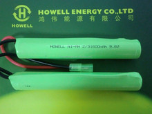 Customized 9.6v 2/3aa1600mah Nimh battery pack / rc battery pack with UL standard