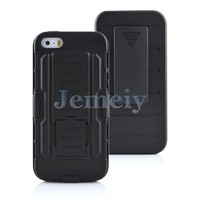 3in1 Shockproof Robert Stand Belt Case Silicon PC Material Cover For Mobile Phone For iPhone For Samsung
