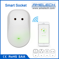 CE SAA Smart WiFi App Controlled Switch Socket Adapter 220V with Remote Control