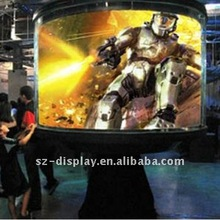 p10 Arc full color Outdoor video ads led Display Screen programmable system advertising led display