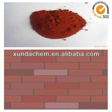 china fabricante de óxido de hierro rojo para los ladrillos