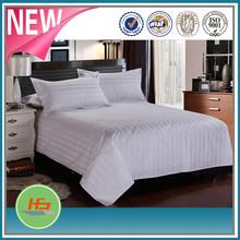 China manufacturer fashion satin stripe bedding set comforter set bed linen