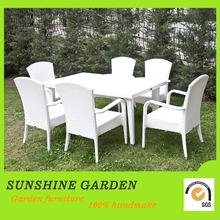 Garden furniture garden wicker formal dining room set