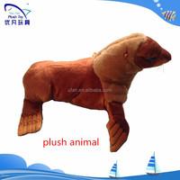 CUSTOM ocean simulate animal print plush stuffed long hair Sealion