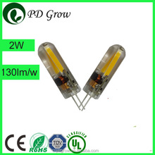 Energy saving Hot sale G4 AC/DC 12V 1.5W LED Silicone Candle Corn Light Bulbs 3000k white SMD 3020 G4 led 12V AC/DC led lamp