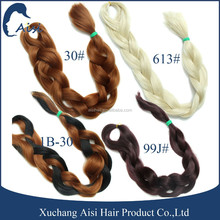 Wholesale Synthetic Hair Two Tone Color Braid Hair Heat Resistant Fiber Yaki Jumbo Braided