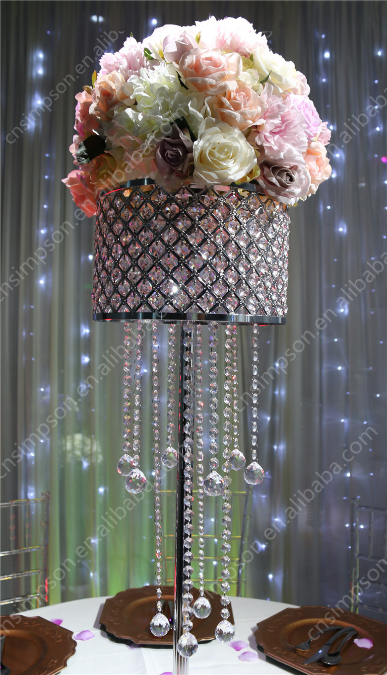 13 5 Jpg Faux Crystal Chandelier Flower Stand