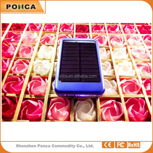 Shenzhen manufacturer customized OEM/ODM 6000mah Portable mobile solar charger/ solar power bank For Mobile Phone