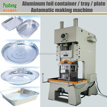 Aluminum foil take away food tray and dish making machinery with punch