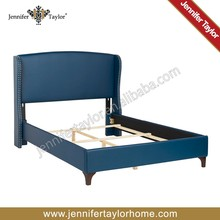 buttoned king blue PU living room furniture beds
