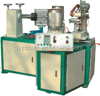 This machine can produce paper core for toilet paper, plastic thin film, N. W. fabric and so on.