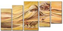 hot desert handmade modern abstract oil painting