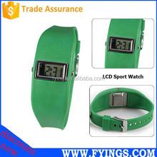 Fashion digital wrist sport watch, stainless steel back