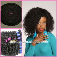 Lasting more than one year cheap virgin peruvian kinky curly remy hair weave