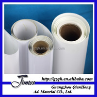 dye pigment glossy pp film with back glue