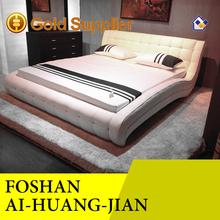 La venta caliente! China de fábrica de calidad de cuero baratos cama individual