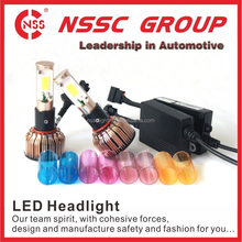 Mini Build-in-fan LED Headlight High Power LED Headlight Conversion 24w H1 Lead Lamp