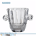 sanzo personalizado fabricante de vidro 2l vidro balde de gelo de coco cola guangzhou