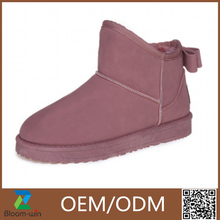 new women boots 2015 Hot sale one button sheepskin boots manufacturer