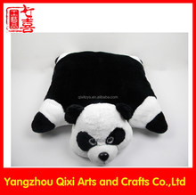High quality soft animal cushion plush panda cushion animal shaped cushion
