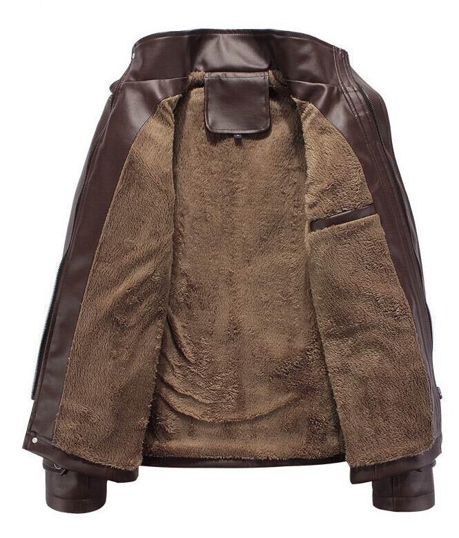 высокие новый кожаный пиджак jaqueta couro кожа куртки мужчин осень-зима куртка человек пальто 3xl топ брендов