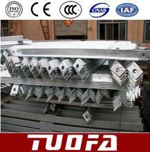 hot dip galvanized tie strap angle / cross arm exported to Kenya 860*50*50*6