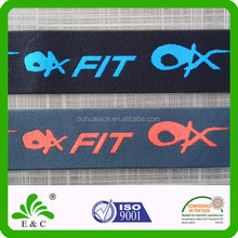 Oeko-tex100 factory good stretch custom jacquard woven elastic