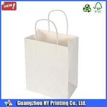 printed white cheap paper carrier bags