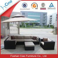 outdoor sofa hot sale PE rattan and Aluminum frame garden furniture sofa