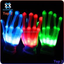 LED flashing magic light up nylon gloves for party