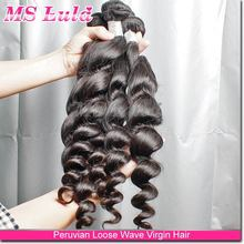 Ideal Hair Arts no processed peruvian loose curl wave human hair weaving