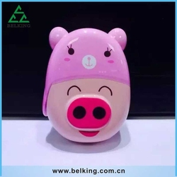 Power Mobile Phone Charger, Colorful Pig Cartoon 3D Powerful Bank For iPhone For Samsung