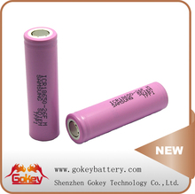 1x18650 lithium rechargeable battery samsung icr18650-26fm battery 2600mah li-ion battery rechargeable for LED flashlight