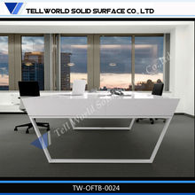 2015 High end and gloss luxury modern office computer desks/high end office executive desk