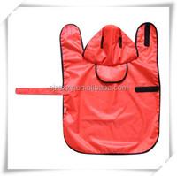 customized PVC pet dog raincoat