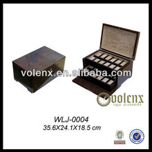 24-Watch Solid Top Vintage Wood Watch Display Storage Case(BV&SGS)