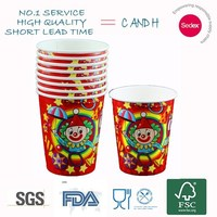 new design birthday party decoration paper cup