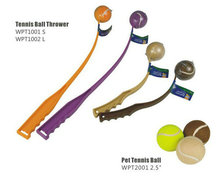 new pet dog product / cute pet toy/pet tennis ball thrower