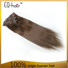 Top 7A Grade Dark Brown Color Human Hair Extensions 16 Inches Human Hair