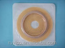 disposable hydrocolloid flange / pouch for colostomy care