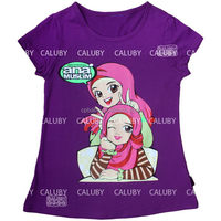 2014 new products lovely cartoon kids fashion solid t-shirt