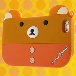 3D Silicone Animal Monster Bear Hello Kitty Cartoon Case Shoulder Bag For Samsung Galaxy S6 S5 S4