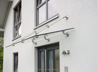 Wholesale Stinless Steel Glass Door Canopy hardware fitting,glass door canopy awning system