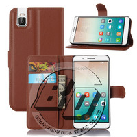 New Arrival Popular flip premium leather case with card holder for Huawei Honor 7i leather case fast delivery